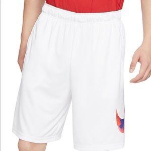 NWT Nike Dri Fit Printed Logo Training Shorts XL